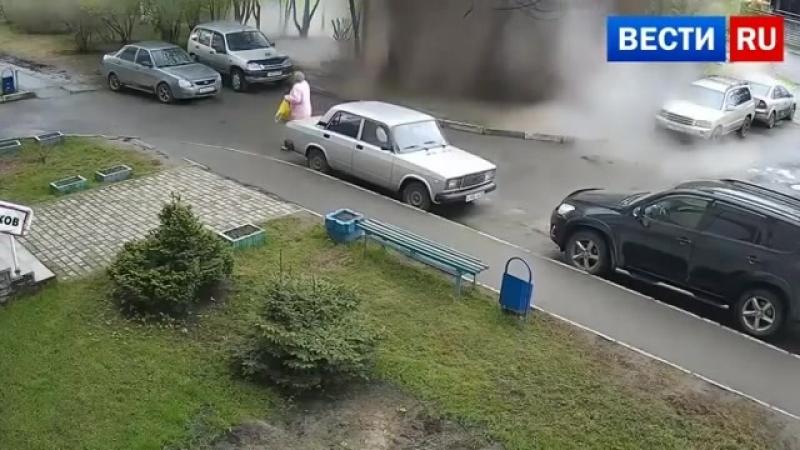 Барнаул. Момент прорыва водопровода