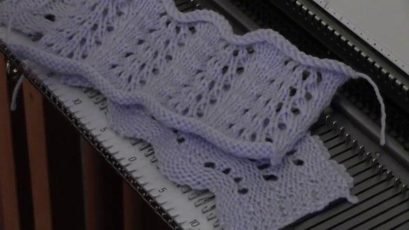 Machine Knit Feather Fan Lace by Diana Sullivan
