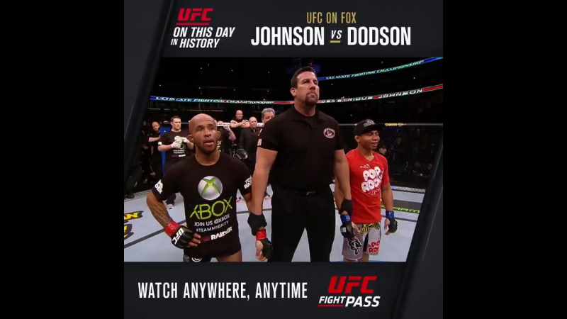 OnThisDay in 2013: Demetrious Johnson vs. John Dodson 1