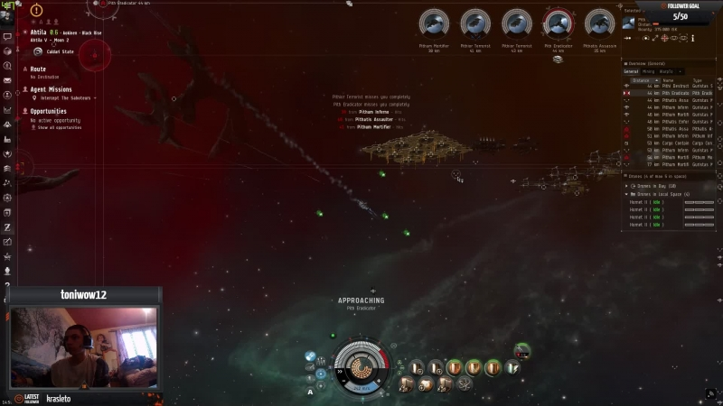 Eve online new player mission running !