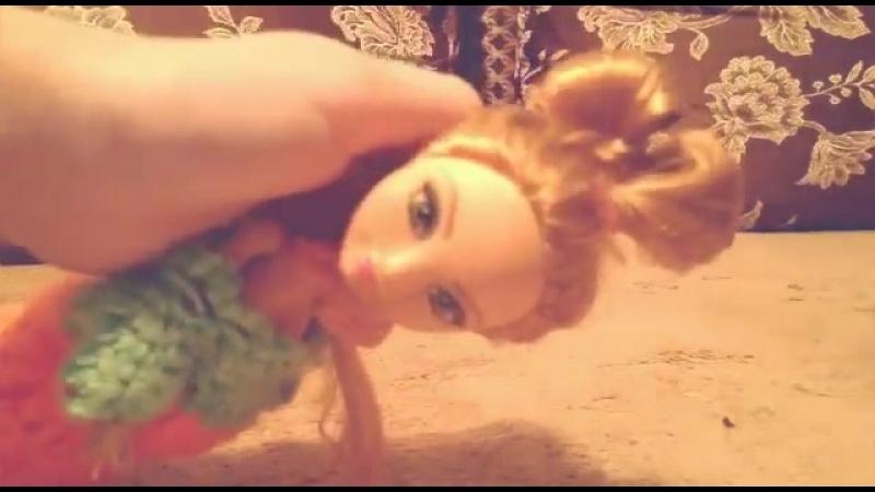 Прическа Бант для куклы-