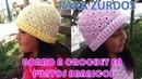 Para ZURDOS: Gorro a Crochet en PUNTO ABANICOS con indicaciones para cualquier edad PASO A PASO