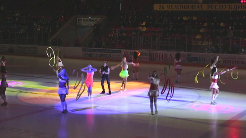 Выступление группы поддержки Iceberg и Александра Воронище