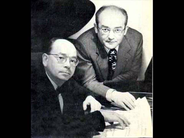 Aloys and Alfons Kontarsky play Milhaud Scaramouche