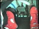 Работа ноги гонщика во время гонки