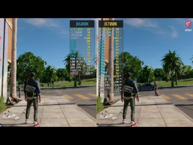 Сравнение - Watch Dogs 2 i5-8600K vs. i7-8700K