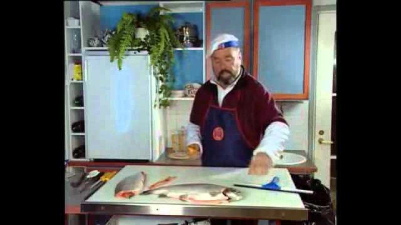 Разделка рыбы - Лосось, Форель