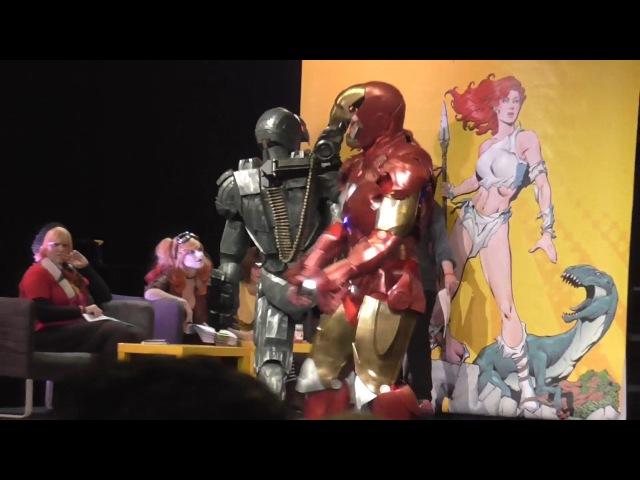 Iron Man MK6 and War Machine MK1 Cosplay GCC 2016 3D printed