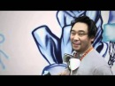 Graffiti artist David Choe painting facebook's office.