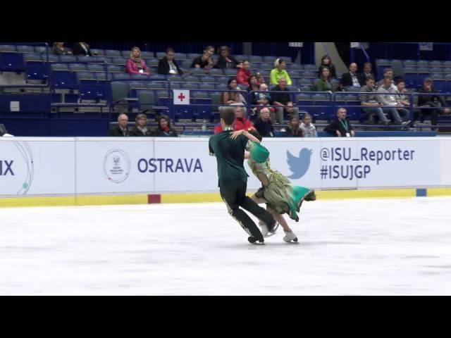 ISU 2014 Jr Grand Prix Ostrava Free Dance Betina POPOVA / Yuri VLASENKO RUS