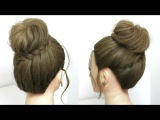 Quick Easy Messy Bun. Everyday Hairstyles For Medium Long Hair