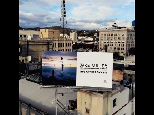 """Jake Miller on Instagram: """"Billboard on Hollywood Blvd... pretty surreal. New album """"Silver Lining"""" out now! LA I'll see you on tour at the Roxy on..."""
