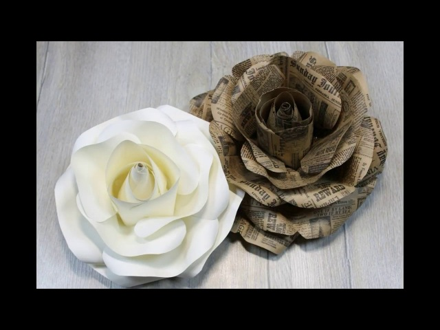 Easy paper rose (complete tutorial). Free template