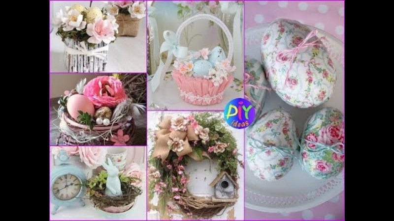DIY Shabby Chic Easter Crafts And Decorations Ideas