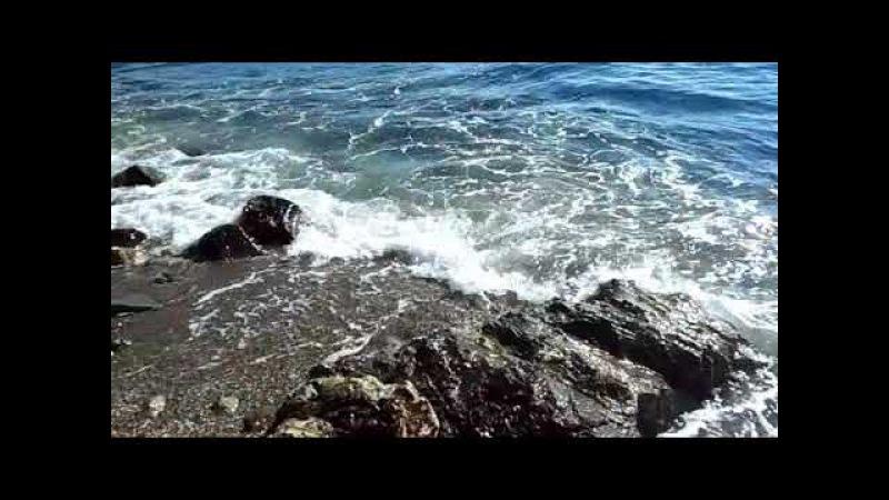 Средиземное море волны камни релакс, Коста дель Соль, природа Испании, 19/11/2017