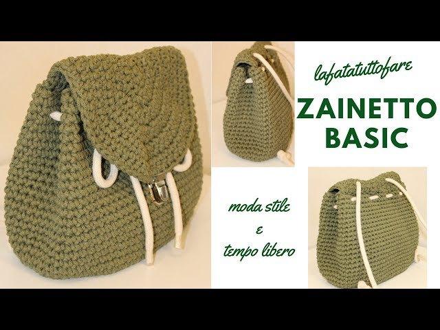 TUTORIAL: Zaino Basic/crochet backpack /mochila crochet***lafatatuttofare***