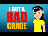 Bad Grades aren't Fun! Education for kids can be tough but watch this Cartoon Confidence Booster