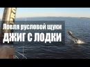 Ловля русловой щуки Джиг с лодки Волга сентябрь 2017