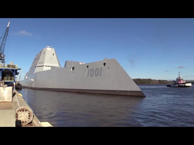 Destroyer Michael Monsoor (DDG 1001) sea trials - BIW