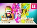 Joker crushed GIGANT Kinder eggs - Джокер Разбивает Киндер яйца сюрприз Николь. Николь в шоке!