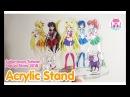 Popup Sailor Moon Crystal Acrylic Stand key charms from Taiwan Pop Up Store 2018 美少女戦士 セーラームーン