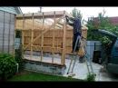 Строительство гаража с пристройкой к дому, своими руками.