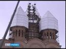 На Свято Тихоновский храм в Ярославле начали устанавливать центральный купол и крест