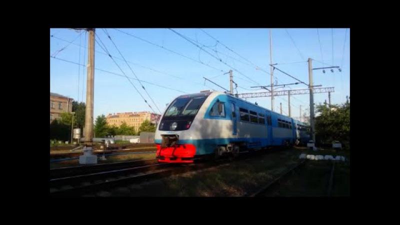РА2 056 с поездом №6691 Санкт Петербург Новгород Великий отправляется с Витебс