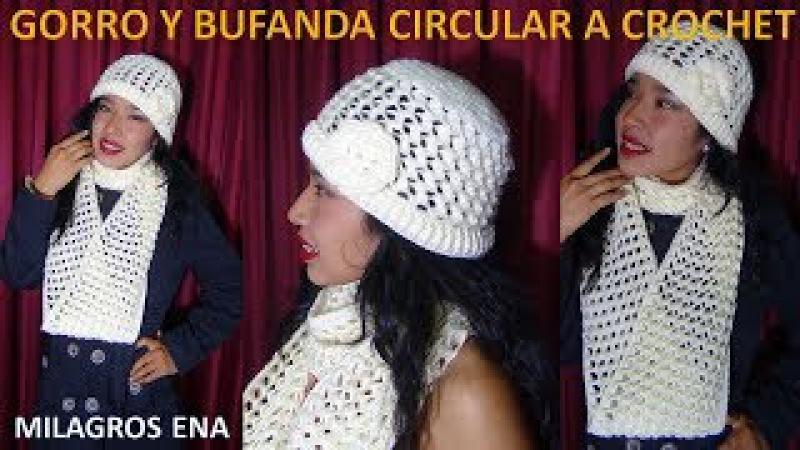 Gorro a Crochet en punto 3D PANAL O NIDO DE ABEJA paso a paso en Video tutorial de tejidos