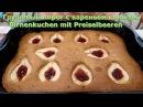 Немецкая выпечка.Грушевый пирог с клюквенным вареньем /Birnenkuchen mit Preiselbeeren
