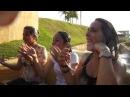 Garotas molhadas no Rio Bravo Hopi Hari