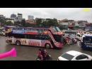 Video Trực tiếp Đoàn xe bus 2 tầng đón U23 Việt Nam đang di chuyển lên sân bay Nội Bài 28/1/2018