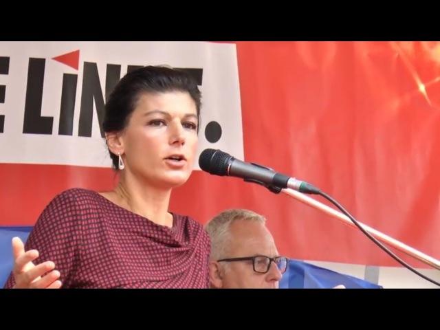 Сара Вагенкнехт Пугая Путиным нас заставляют вооружаться Голос Германии