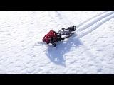 Прототип лего снегохода.