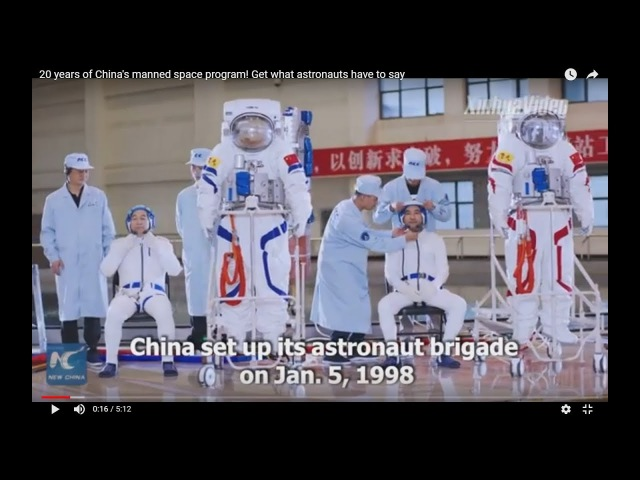 20 years of China's manned space program Get what astronauts have to say