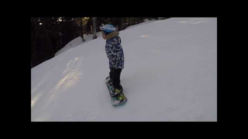 Xavier 1st Ride at Mt. Hood Meadows, Oregon, USA Jan 21, 2018