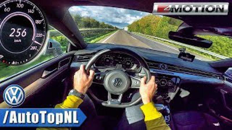 VW Arteon 2 0 TSI 280HP AUTOBAHN POV ACCELERATION TOP SPEED by AutoTopNL