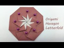 Origami Hexagon Letterfold Instruction Hexaflexagon Traditional Origami Envelope Tutorial