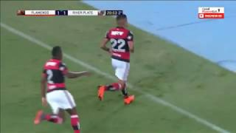 Gol Everton Flamengo 2 x 1 River Plate Libertadores 2018