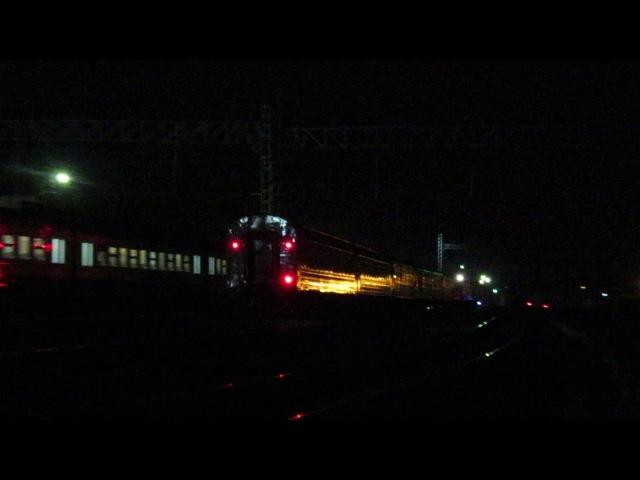 Электровоз ЧС7 с поездом№140М Брянск-Санкт Петербург станция Нара 13.11.2017