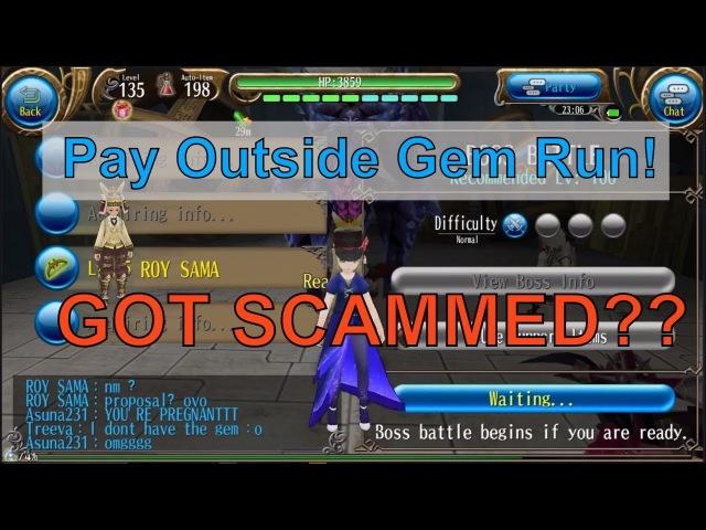 Toram Online Glory Gem Run Pay Outside.. I GOT SCAMMED