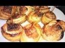 Картофель запеченный в духовке с салом и луком A potato is baan oveked in n with a lard