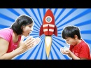 Ayhan steals his mommy's snack and make a rocket for kids