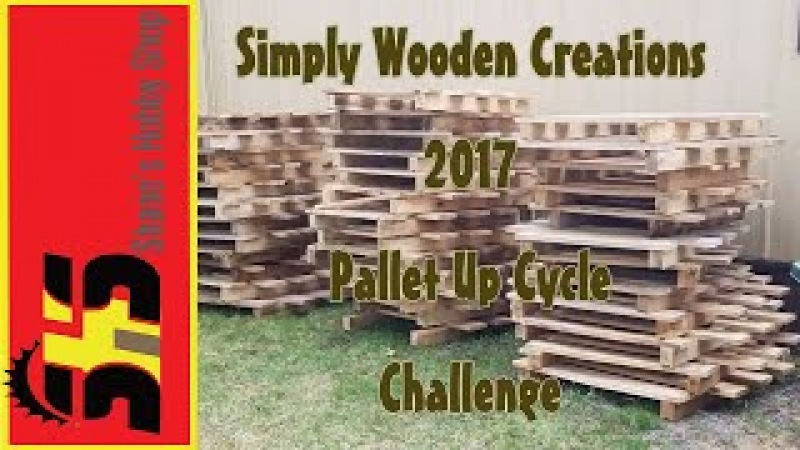 2017 Pallet Up Cycle Challenge - Pallet Wood End TableBook Case