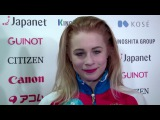 Daria PANENKOVA RUS  Interview - ISU JGP Final - Ladies Free Skating - Nagoya 2017