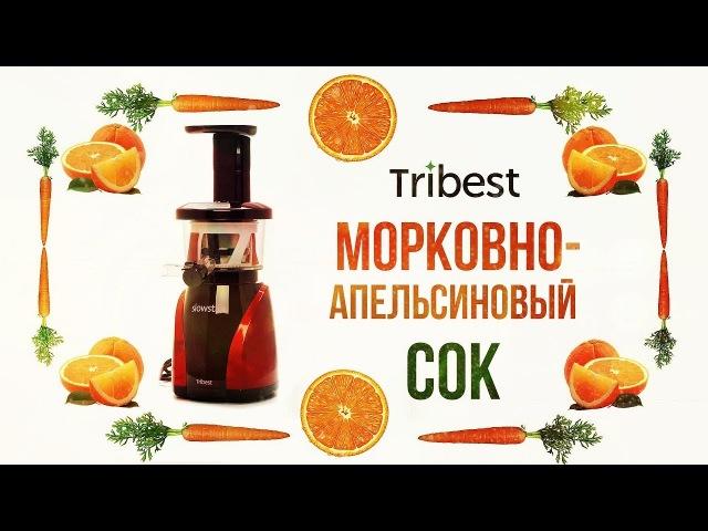 Морковно-апельсиновый сок в шнековой соковыжималке Tribest Slowstar SW-2000VS на выставке Ambiente