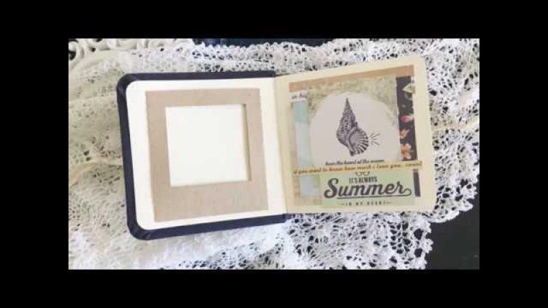 Полароидная рамка с помощью ScanNCut Скрапбукинг мастер класс Aida Handmade
