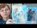 Способы трансфера распечатки фотографии в микс медиа декоре видео урок Натальи Жуковой