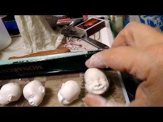 Лепим личики Process for coton bebe...