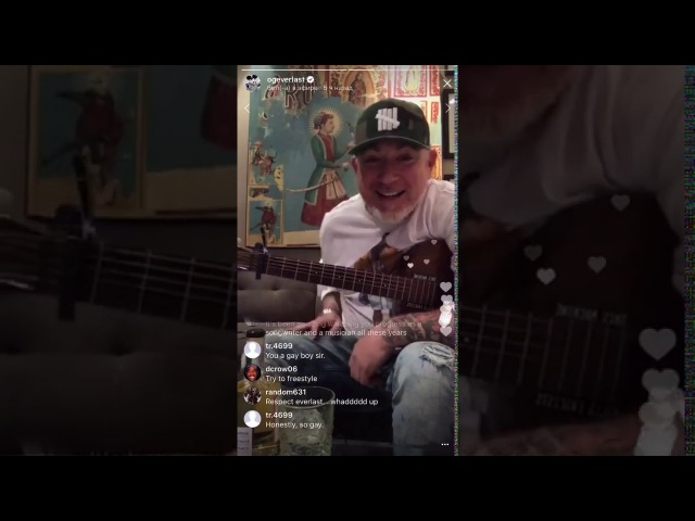 Everlast aka Whitey Ford - Instagram Live 2017